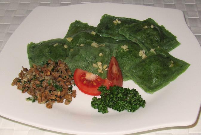 Vegane Ravioli mit Pfifferlingen