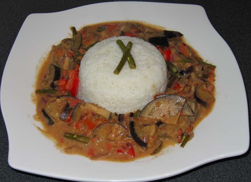 Auberginen Curry