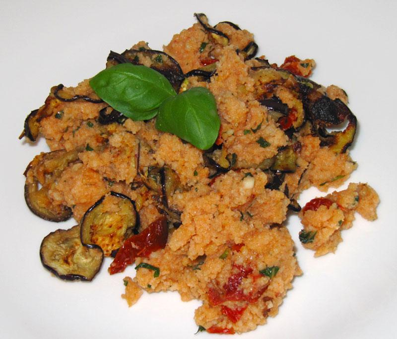 Couscous mit Auberginen