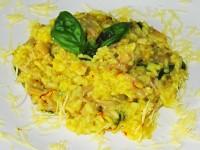 Safran-Risotto mit Austernpilzen