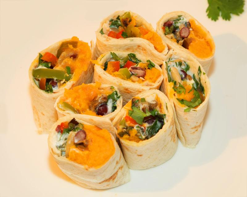 Süßkartoffel-Tortilla-Canapés