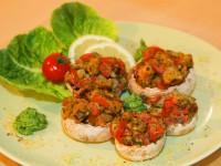 Gefüllte Champignons an Petersilien-Pesto