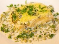 Polenta-Erbsen-Gratin mit frischen Kräutern