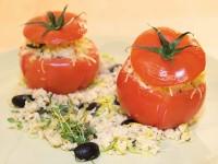 Tomaten mit Hirse-Lauch-Füllung